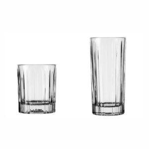 סט 6 כוסות וויסקי ו 6 כוסות הייבול וינטאג' Libbey
